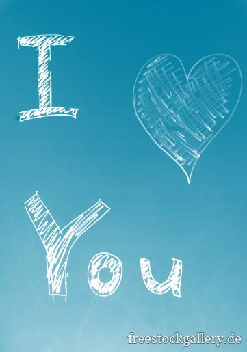 I love you - Grafik Illustration in balu