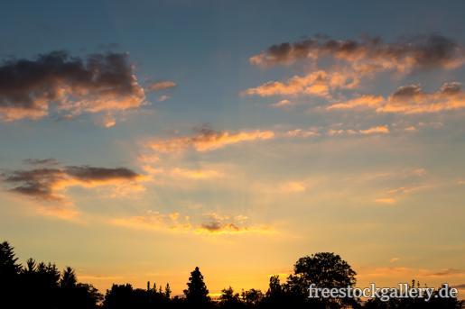 Untergehende Sonne In Der Natur Kostenloses Bild Zum Download